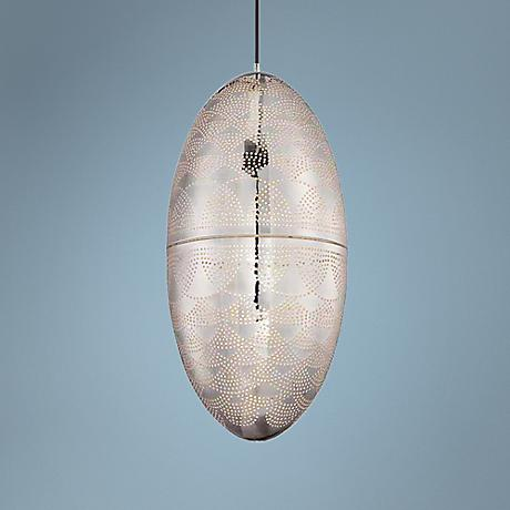 "Eurofase Misano 12"" Wide Silver Mini Pendant Light"