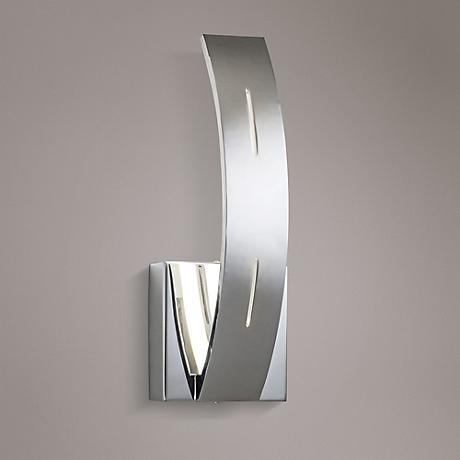 "Elan Ivis 12 1/4"" High LED Arc Chrome Wall Sconce"