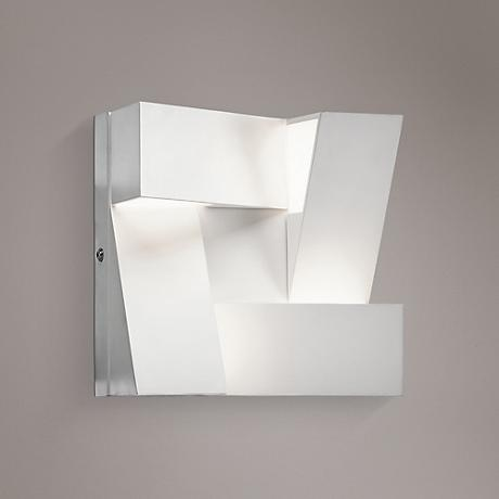 Modern White Wall Sconces : Elan Javan 7 3/4