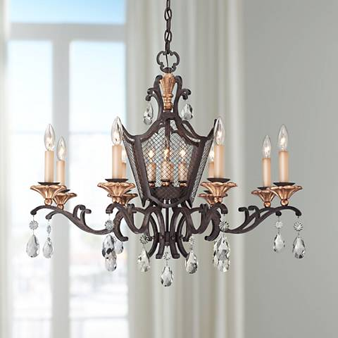 "Cortona 32"" Wide 8-Light French Bronze Chandelier"