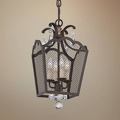 "Cortona 12"" Wide 4-Light French Bronze Mini Pendant"