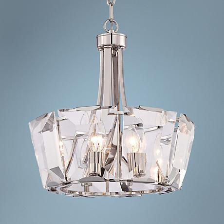 "Castle Aurora 17 1/2"" Wide Crystal Panel 8-Light Pendant"