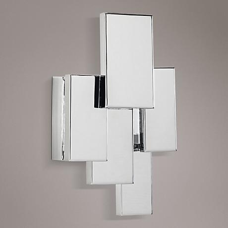 "Elan Kinslee 13""H LED Chrome Frosted Acrylic Wall Sconce"