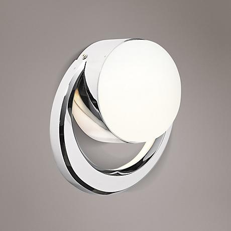 "Elan Novella 8 3/4"" High LED Etched Glass Wall Sconce"