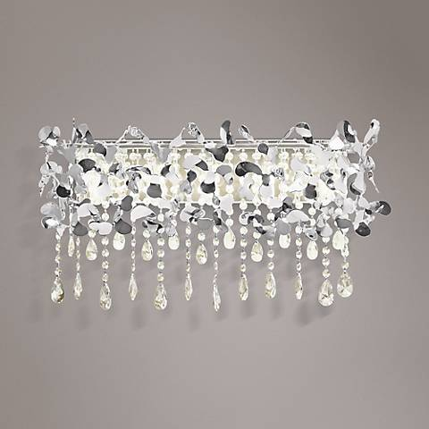 "Elan Alexa 25 1/2"" Wide 5-Light Crystal Chrome Bath Light"