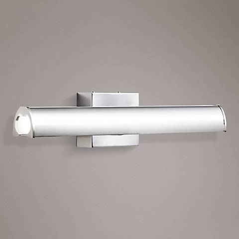 "Elan Krizia 24 1/4""W LED Chrome Etched Acrylic Bath Light"
