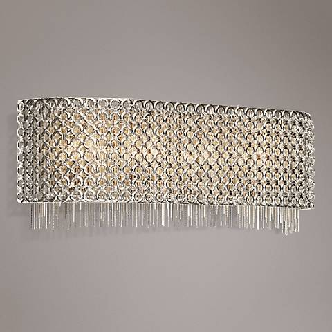 "Elan Elauna 20"" Wide 4-Light Brushed Nickel Bath Light"