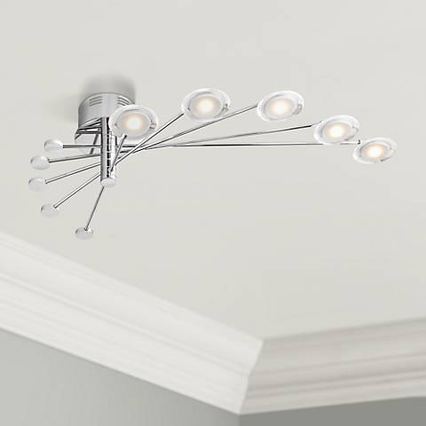 "Cressida 36 1/4"" Wide Adjustable LED Chrome Ceiling Light"