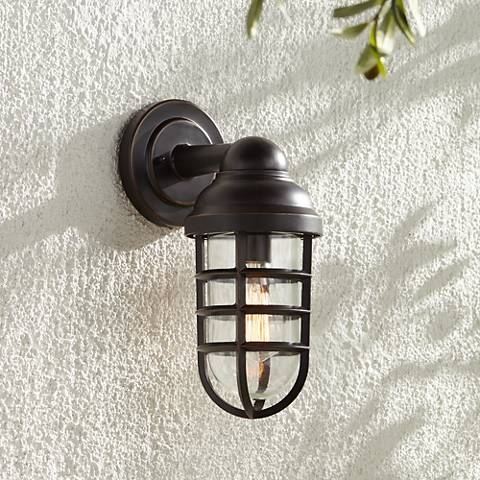 Metal Outdoor Wall Lights : Marlowe Bronze 13 1/4