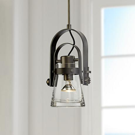 "Hubbardton Forge Erlenmeyer 8""W Dark Smoke Pendant Light"