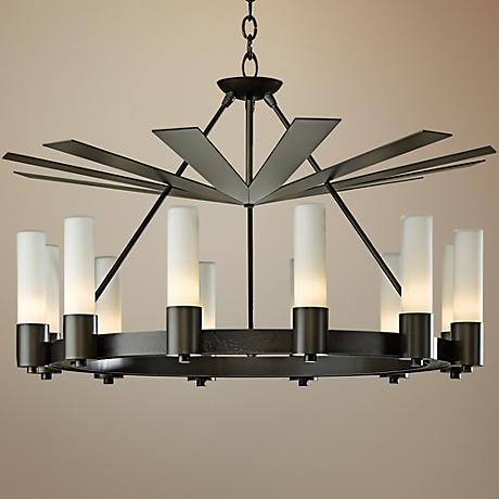 "Piccadilly 34 1/2""W Dark Smoke Chandelier"