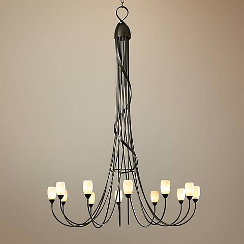 "Hubbardton Forge Flora 59 3/4"" Wide Dark Smoke Chandelier"