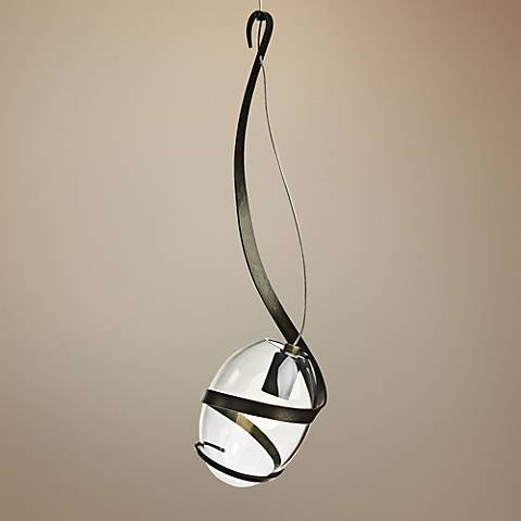 "Hubbardton Forge Pinot 5 1/2"" Wide Dark Smoke Mini Pendant"