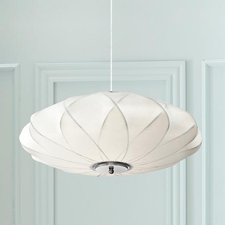 Flower Cloud 22 1 2 Wide Contemporary White Pendant