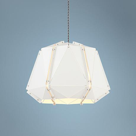 "Possini Euro Jedi 17 1/2"" Wide White Pendant Light"
