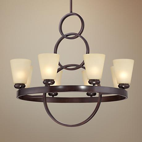 "Possini Euro Hooper 32 1/2""W 8-Light Bronze Chandelier"