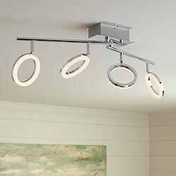 Pro Track Halo 4-Light Chrome LED Track Fixture