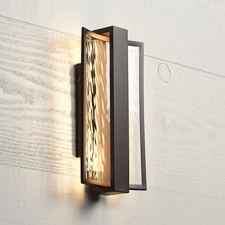 "George Kovacs Sidelight 15 1/4""H LED Outdoor Wall Light"