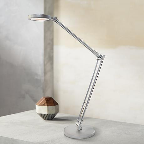 Lite Source Kai Adjustable Silver LED Desk Lamp