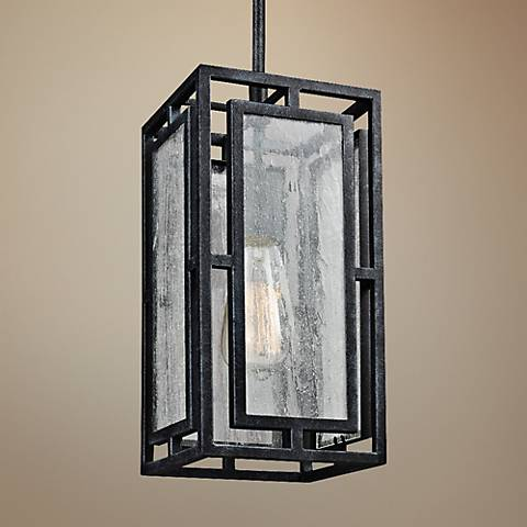 "Feiss Prairielands 6""W Dark Zinc 1-Light Mini Pendant"