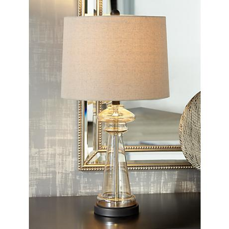 Dalia Champagne Glass Table Lamp 8h818 Www Lampsplus Com