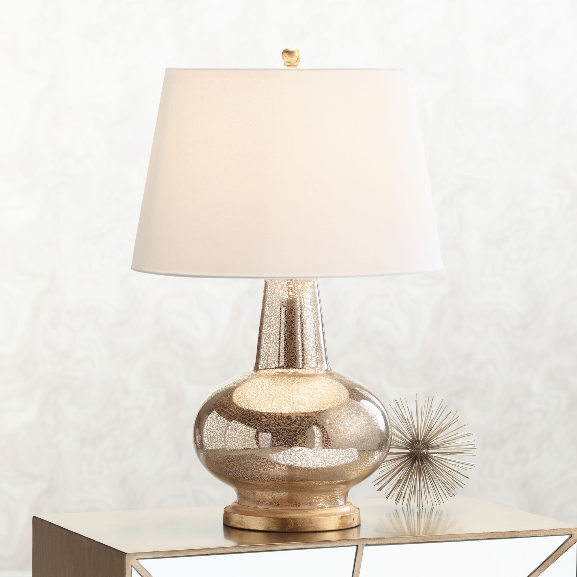 errol long neck gourd mercury glass table lamp - Mercury Glass Table Lamp