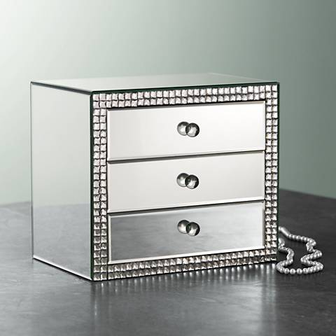 Lorain 3 Drawer Mirrored Jewelry Box 8j392 Lamps Plus