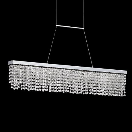 "Merania 39 1/2"" Wide LED Beaded Crystal Island Pendant"