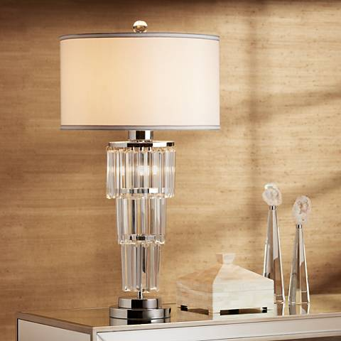 Vienna Full Spectrum Cascade Glass Nightlight Table Lamp