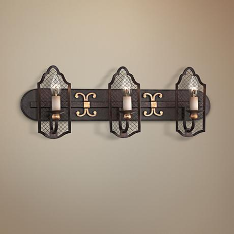 "Metropolitan Cortona 24""W French Bronze Bath Light"