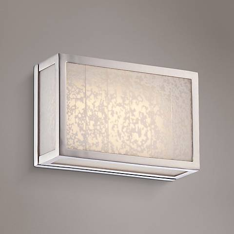 "Lake Frost 6""H Polished Nickel LED Wall Sconce"