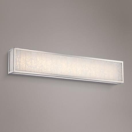 "Lake Frost 32""W Polished Nickel LED Bath Light"