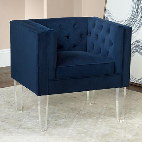 Trent Bella Ink Tufted Accent Chair