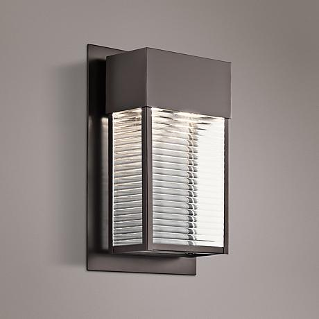 "Kichler Sorel 16""H 2-Light Bronze Outdoor LED Wall Light"