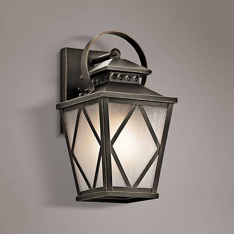 "Kichler Hayman Bay 13 1/4""H Old Bronze Outdoor Wall Light"