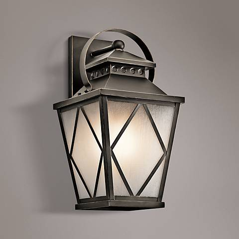 "Kichler Hayman Bay 20 3/4""H Old Bronze Outdoor Wall Light"