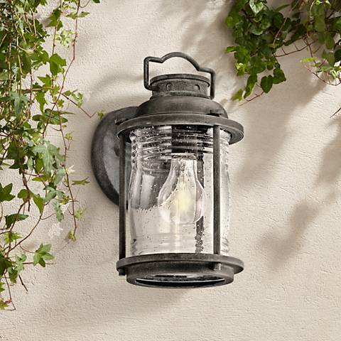 "Kichler Ashland Bay 11""H Zinc Small Outdoor Wall Light"