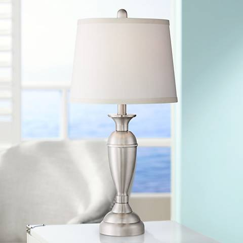 Blair Steel Table Lamp Set of 2 w/15 Watt Non-Dimmable LEDs