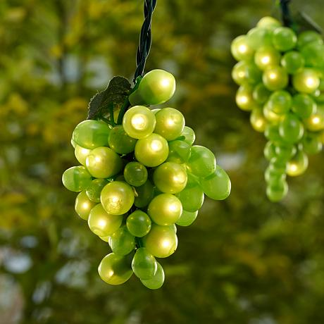 Green 100 Micro-Bulb 10-Cluster Grapevine String Light
