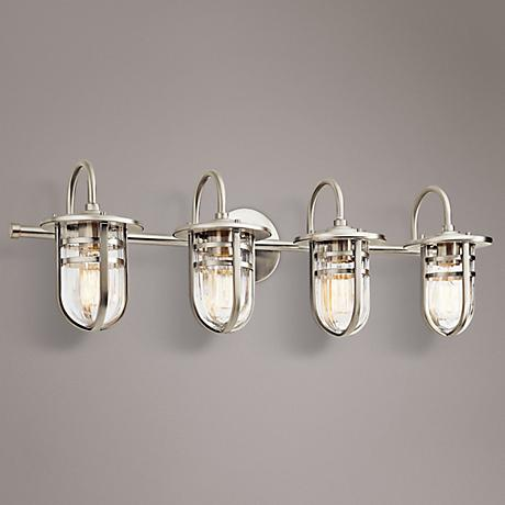 "Kichler Caparros 32 1/4"" Wide 4-Light Nickel Bath Light"
