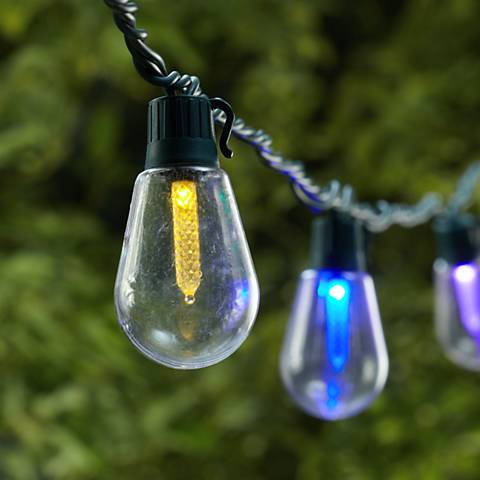 Multicolor Old Fashioned Bulb 20-LED String Light