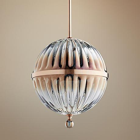 "Quorum Filament 10""W Brushed Copper Mini Pendant Light"