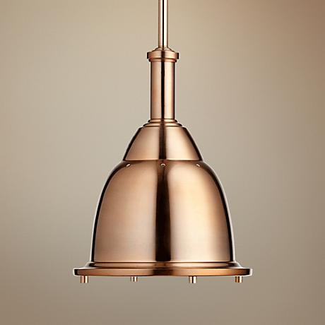 "Quorum 10""W Satin Copper Mini Pendant"