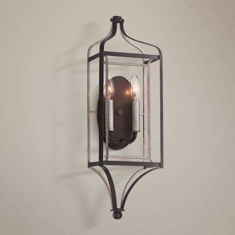 "Astrapia 22"" High Dark Rubbed Sienna 2-Light Wall Sconce"