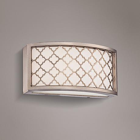 "Westwood Court 10"" Wide LED Champagne Gold Bath Light"