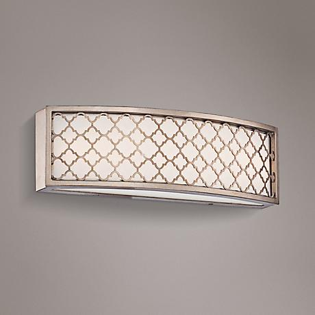 "Westwood Court 16"" Wide LED Champagne Gold Bath Light"