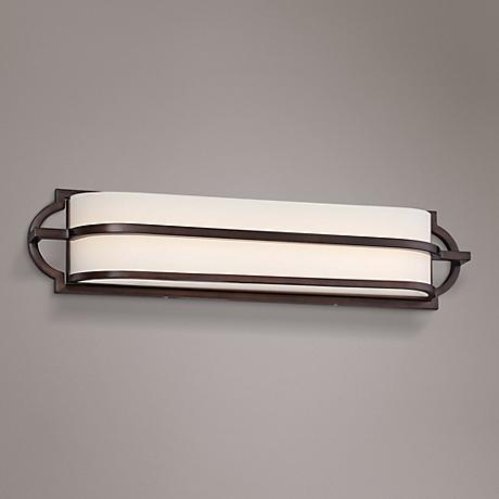 "Mission Grove 24"" Wide LED Dark Brushed Bronze Bath Light"