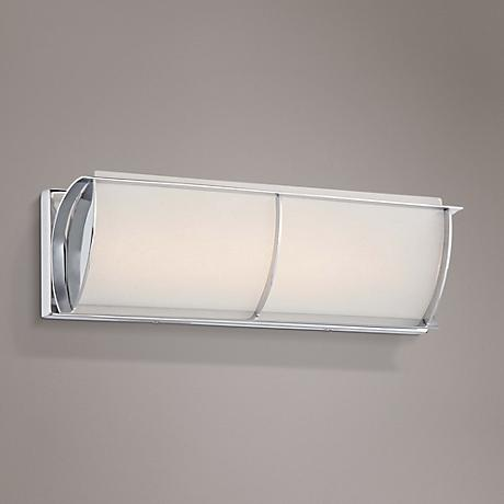 "Arlington Brooke 16 3/4""W Chrome Frosted LED Bath Light"