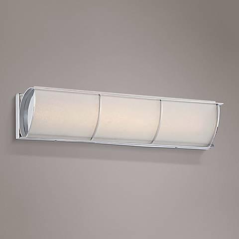 """Arlington Brooke 24 1/4""""W Chrome Frosted LED Bath Light"""
