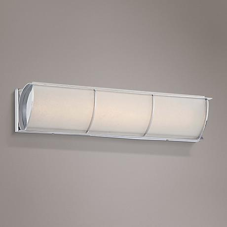 "Arlington Brooke 24 1/4""W Chrome Frosted LED Bath Light"